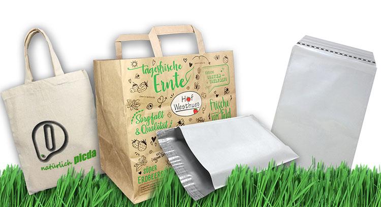 Baumwolltaschen - Papiertaschen - Versandtaschen - Klappenbeutel